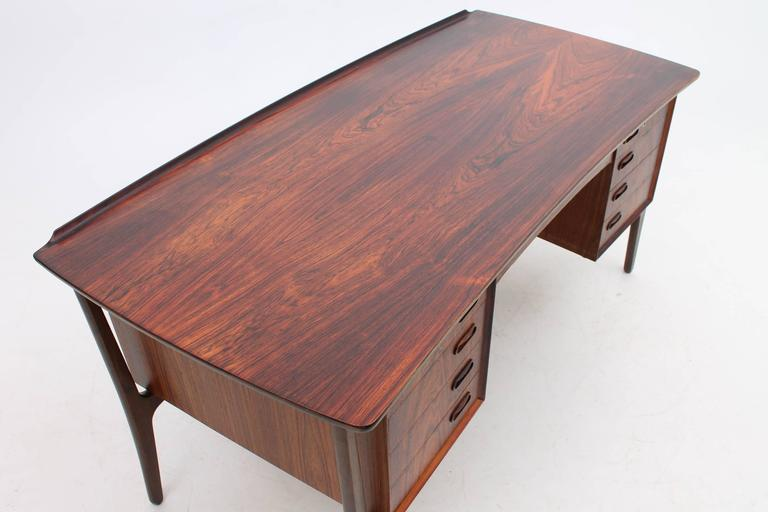 Rosewood Desk by Svend Aage Madsen for HP Hansen, Scandinavian Modern 3