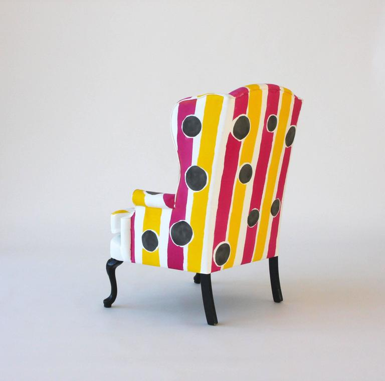 Hand-Painted Wing Chair 4