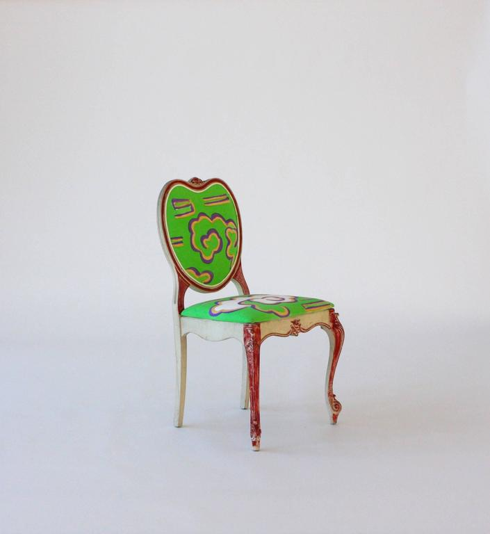 Hand-Painted Victorian Style Heart Chair For Sale 1