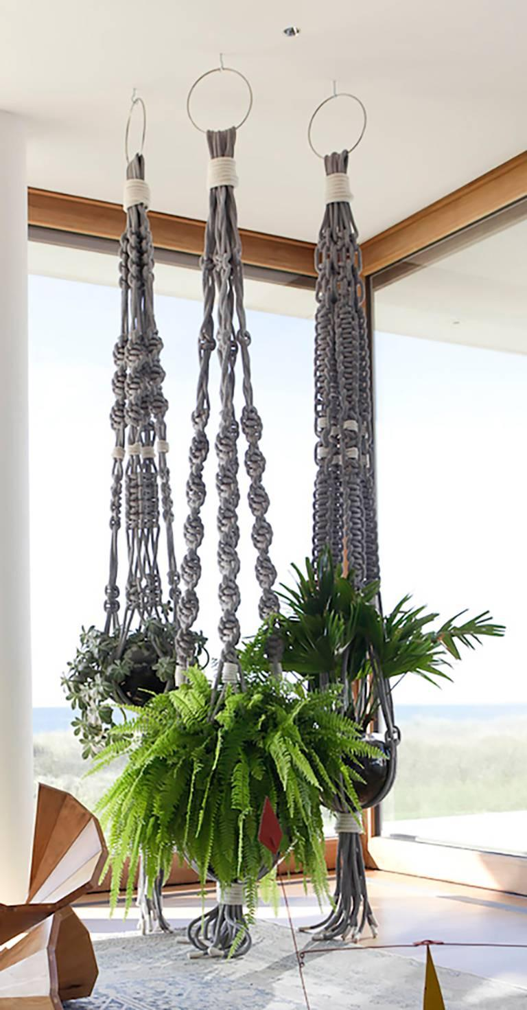 macrame plant hanger for sale custom macrame plant hanger for sale at 1stdibs 4142