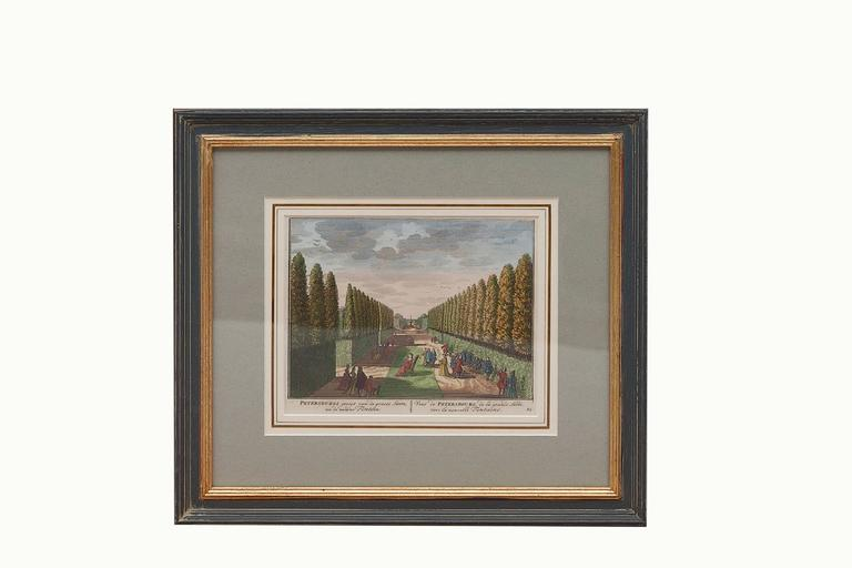 18th Century Dutch Hand-colored Engravings of Gardens, circa 1732 6