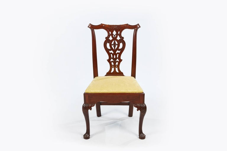 Irish 19th Century Set of Eight Chippendale Style Dining Chairs For Sale