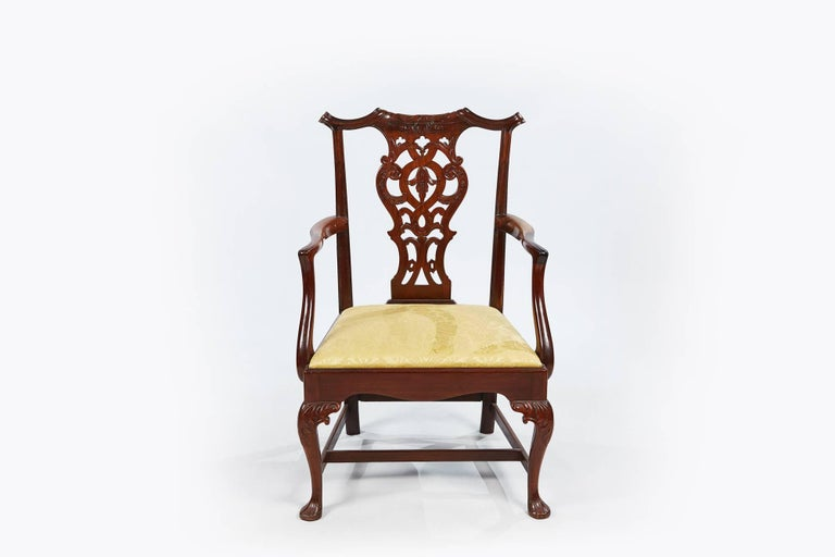 19th Century Set of Eight Chippendale Style Dining Chairs For Sale 1