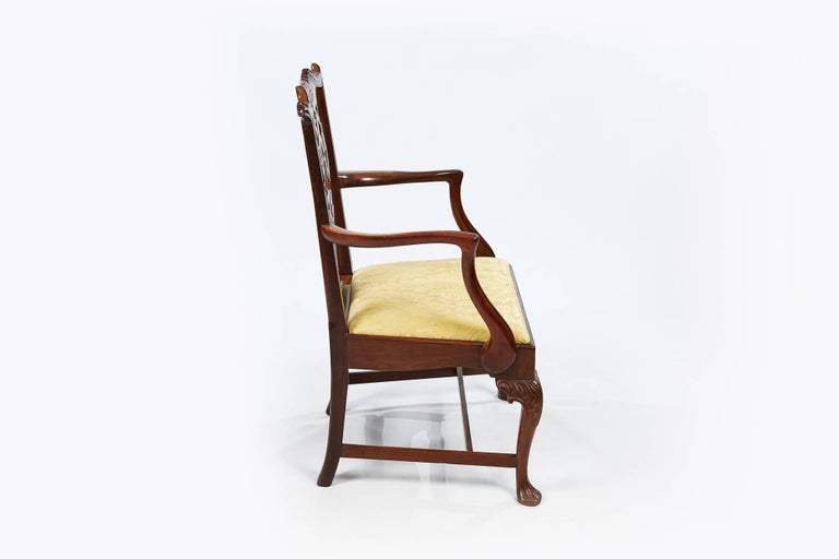 19th Century Set of Eight Chippendale Style Dining Chairs For Sale 2