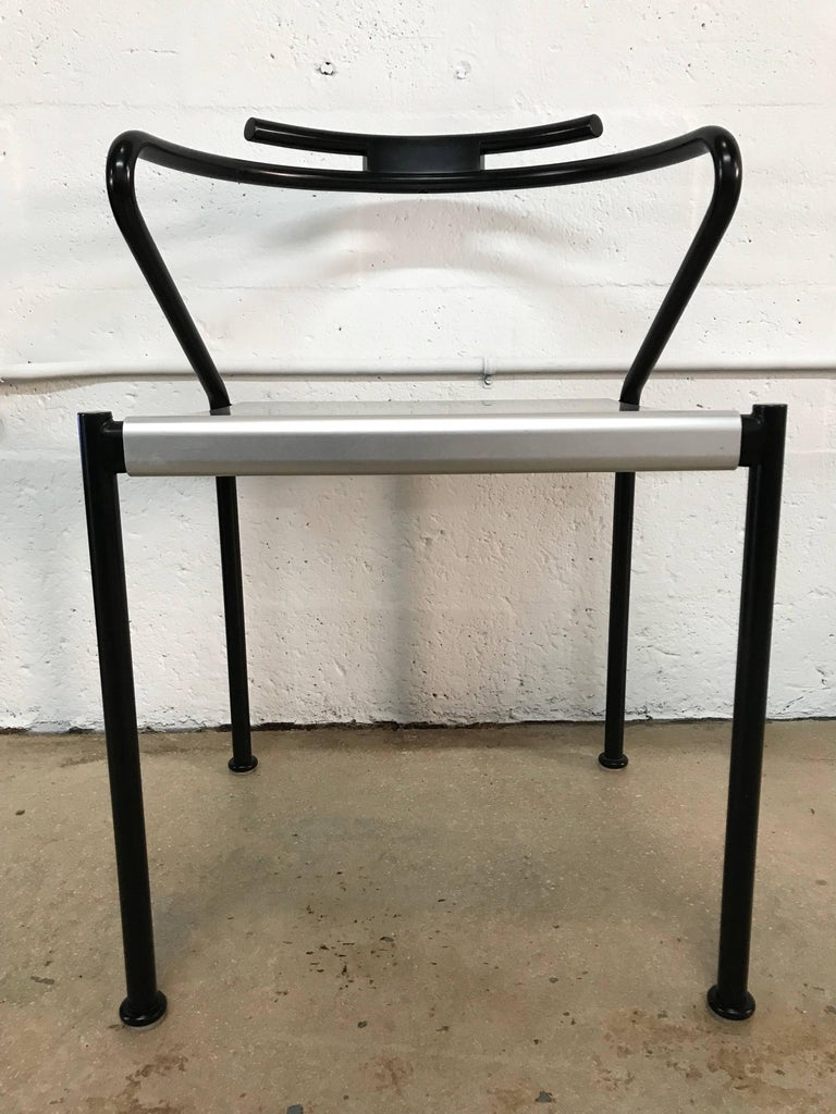 Set of Ten Postmodern Dining Chairs by Cidue, Italy In Excellent Condition For Sale In Miami, FL