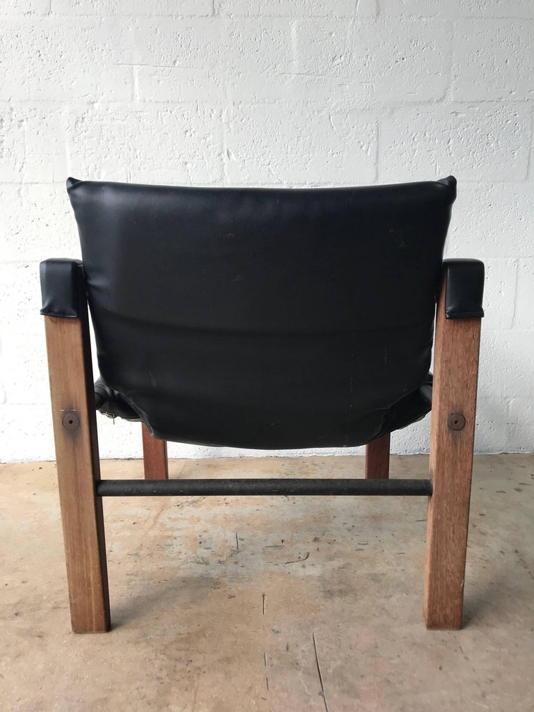 "Scottish Pair of Black ""Safari"" Chairs by Maurice Burke for Arkana For Sale"