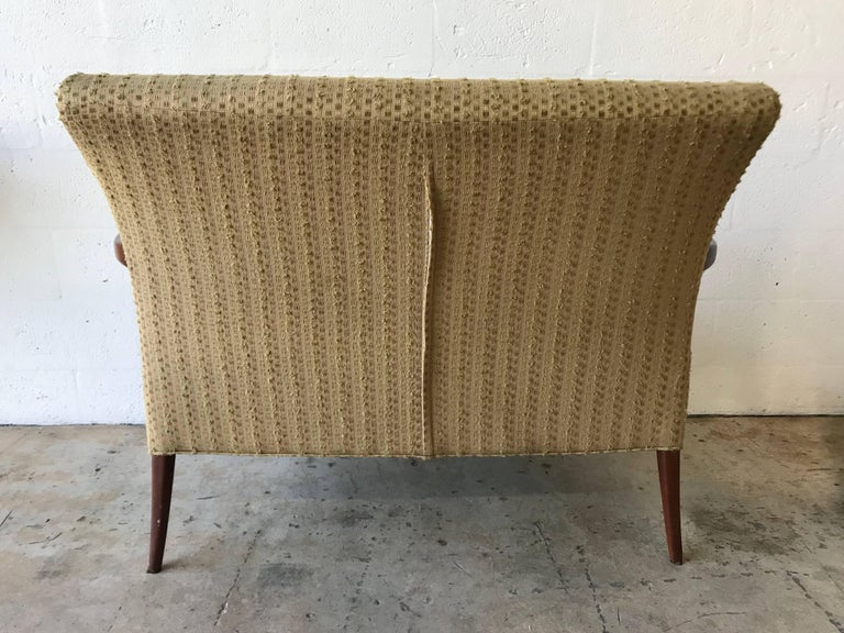 Stained Midcentury Italian Paolo Buffa Style Settee or Loveseat For Sale