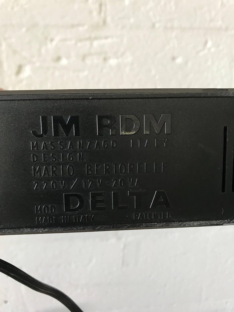 "Pair of Postmodern Mario Bertorelle ""Delta"" Lamps for JM RDM Massanzago, Italy For Sale 1"