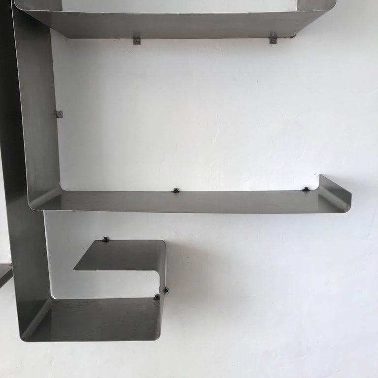 "François Monnet and Joelle Ferlande ""Zig-Zag"" Wall Unit or Shelving for Kappa In Excellent Condition For Sale In Miami, FL"