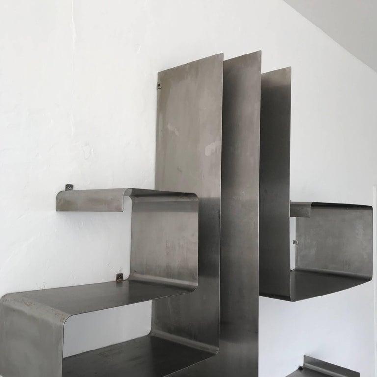 "François Monnet and Joelle Ferlande ""Zig-Zag"" Wall Unit or Shelving for Kappa For Sale 1"