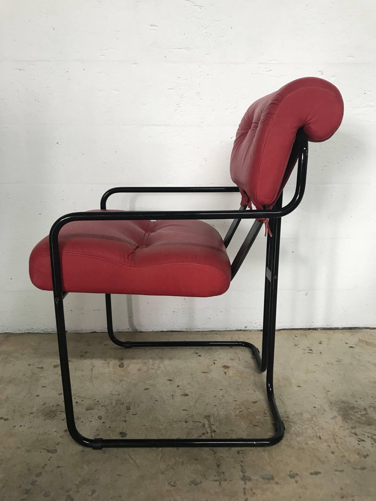 """Post-Modern Rare Set of Four """"Tucroma"""" Chairs by Guido Faleschini for Pace Collection For Sale"""