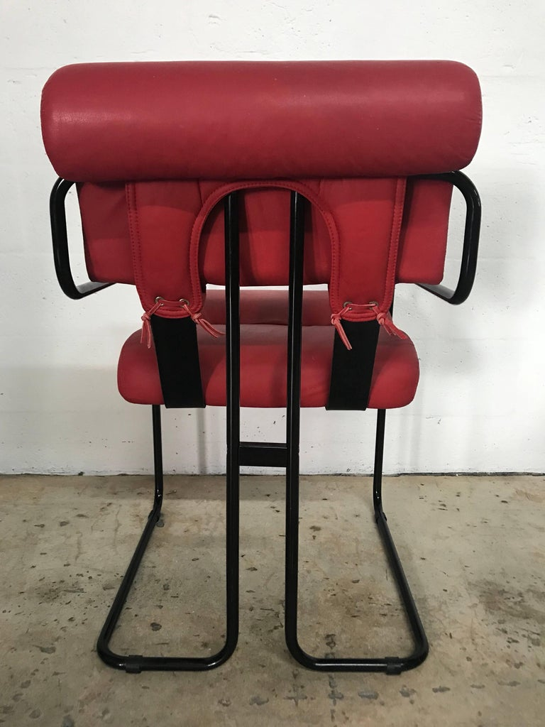 """Italian Rare Set of Four """"Tucroma"""" Chairs by Guido Faleschini for Pace Collection For Sale"""
