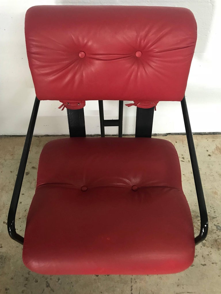 """20th Century Rare Set of Four """"Tucroma"""" Chairs by Guido Faleschini for Pace Collection For Sale"""