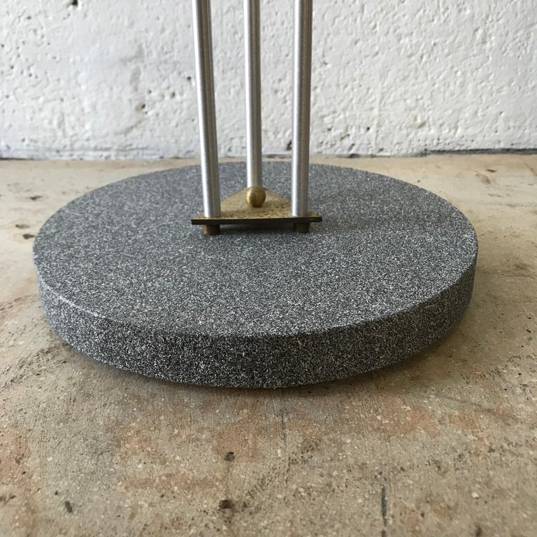 Postmodern Telephone Accent Occasional Side or End Table in Steel and Brass In Good Condition For Sale In Miami, FL