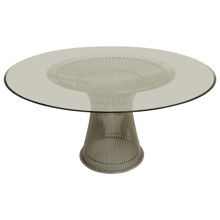 Warren Platner Steel and Glass Dining Table for Knoll