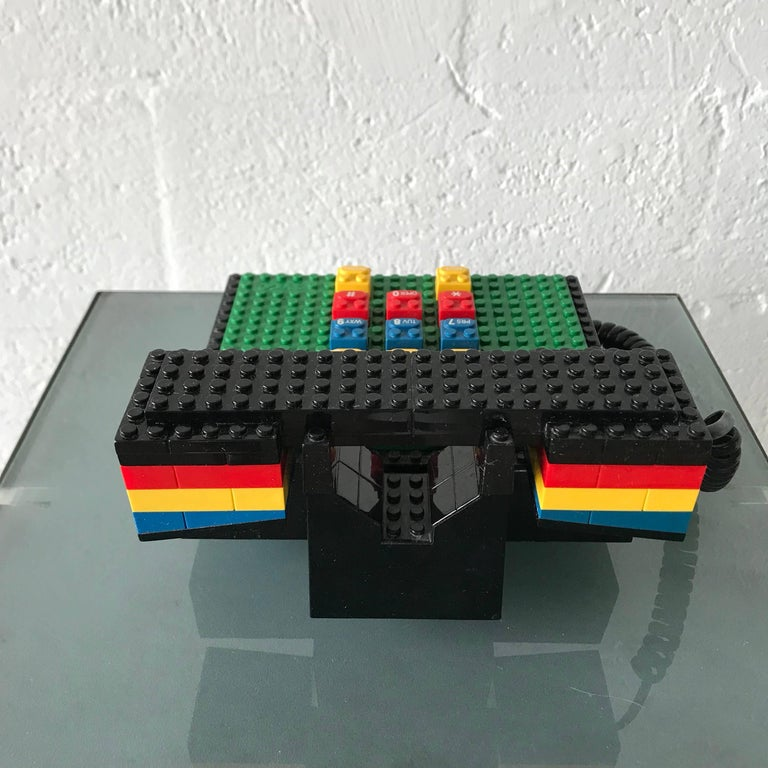 """Postmodern """"LEGO"""" Telephone, Phone by Tyco In Good Condition In Miami, FL"""