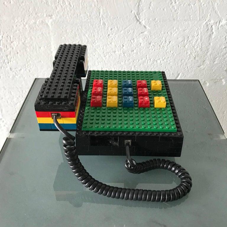 "20th Century Postmodern ""LEGO"" Telephone, Phone by Tyco"