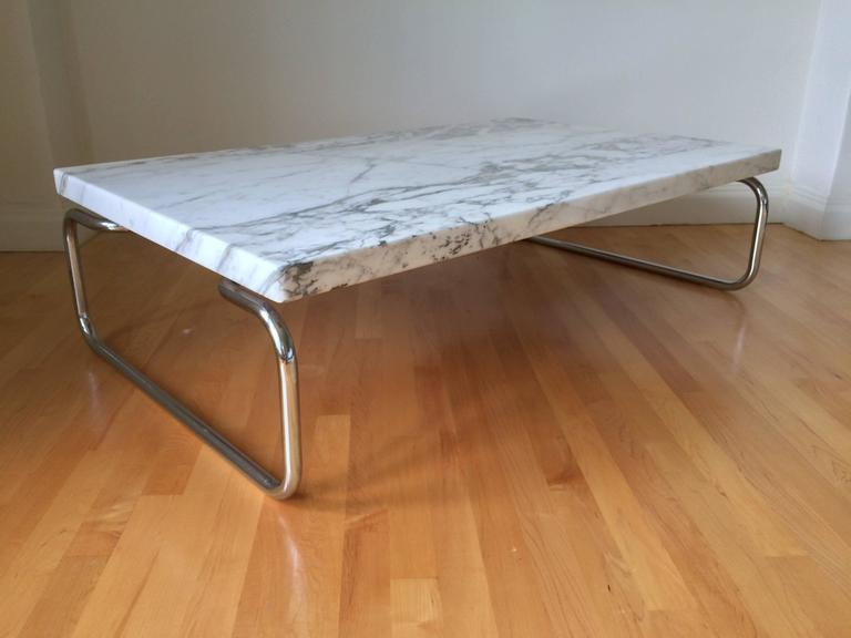 Chrome Rare Michael McCarthy Coffee or Cocktail Table for Cassina For Sale