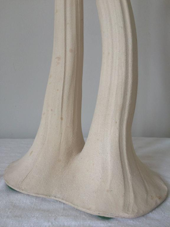 Italian Pair of Artist Signed Art Nouveau Lamps
