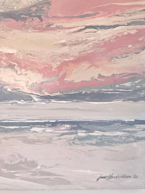 Post-Modern June Hendrickson Oil Painting, USA For Sale