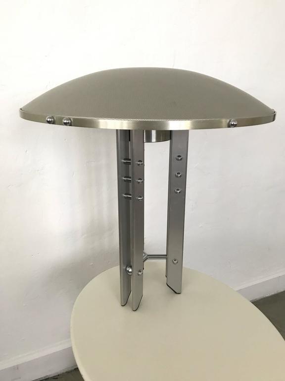 Industrial aluminium and steel table or desk lamp by Robert Sonneman for George Kovacs.