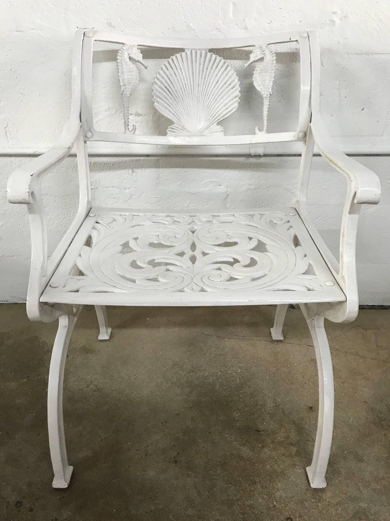 Set Of Three Molla Shell And Seahorse Motif Chairs 2