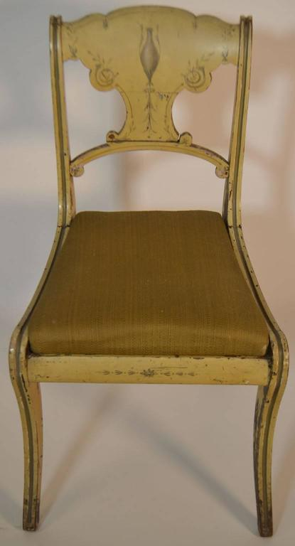 19th Century Set of Four English Small Painted Chairs In Good Condition For Sale In Vista, CA