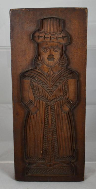 Wooden gingerbread mold at stdibs