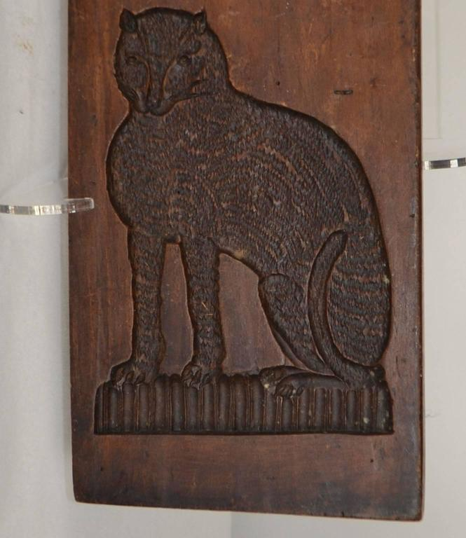 Wooden Gingerbread Mold Dog And Cat For Sale At 1stdibs