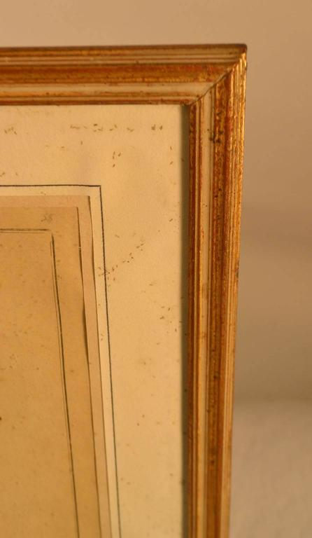 18th Century Framed Fashion Engraving In Good Condition For Sale In Vista, CA