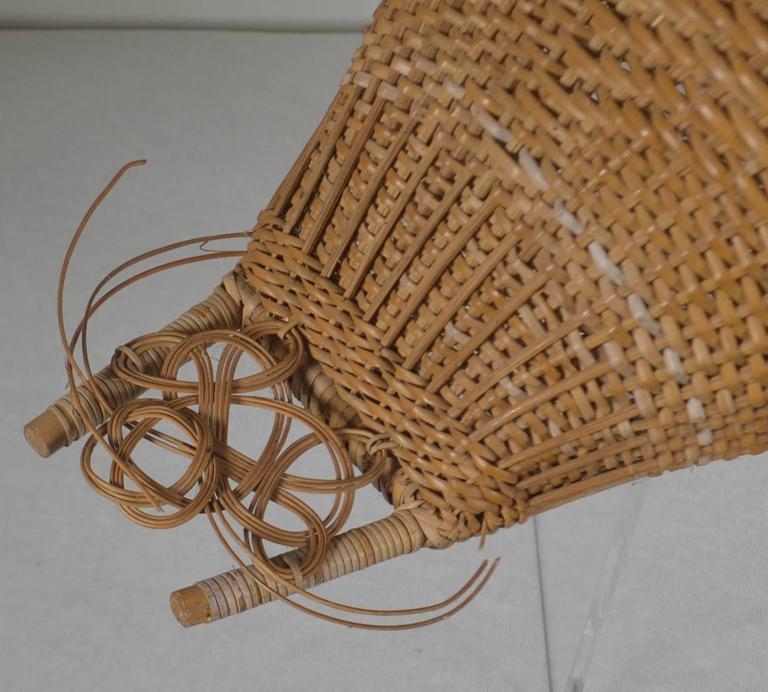 20th Century Wicker Work Basket In Good Condition For Sale In Vista, CA