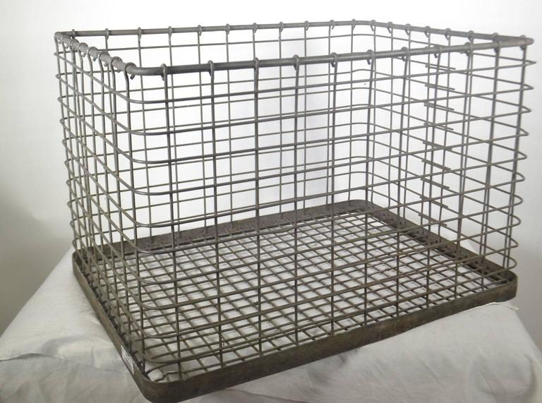 20th Century Metal Basket In Good Condition For Sale In Vista, CA