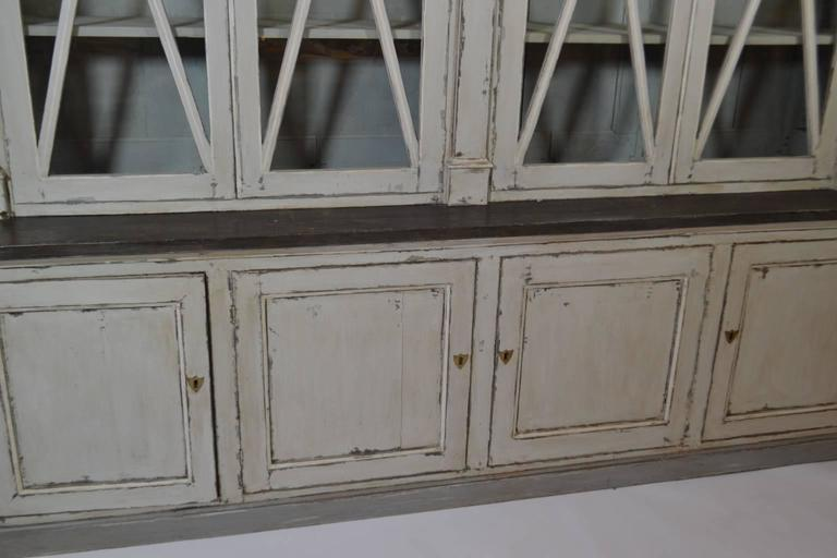 Glass Directoire Bookcase For Sale