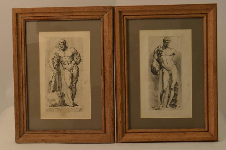Etchings, ca. 19th Century.  Book plates.