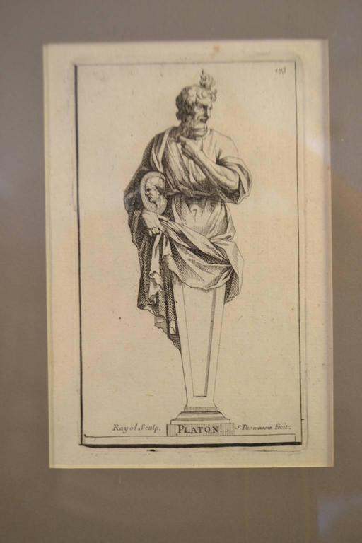 Paper Six Copperplate Engravings of Sculptures in the Garden of Versailles For Sale