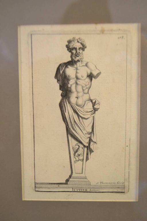 Six Copperplate Engravings of Sculptures in the Garden of Versailles For Sale 1