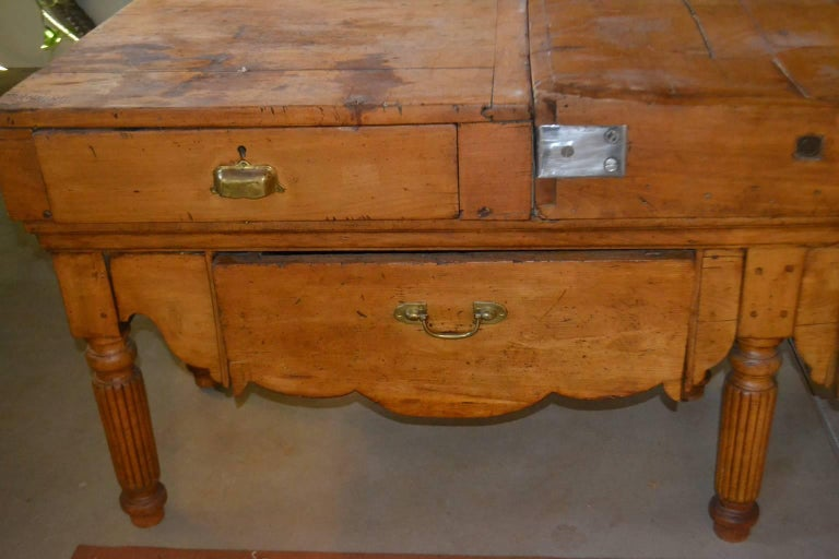 French Long Butcher Table For Sale