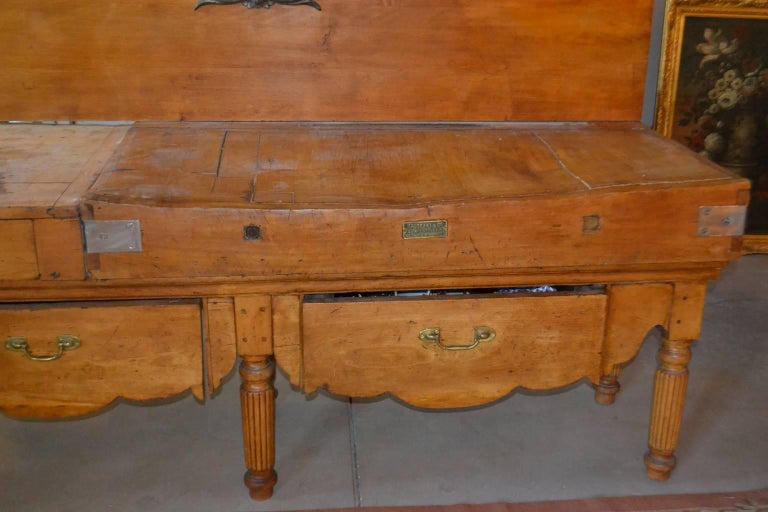 Long Butcher Table In Excellent Condition For Sale In Vista, CA