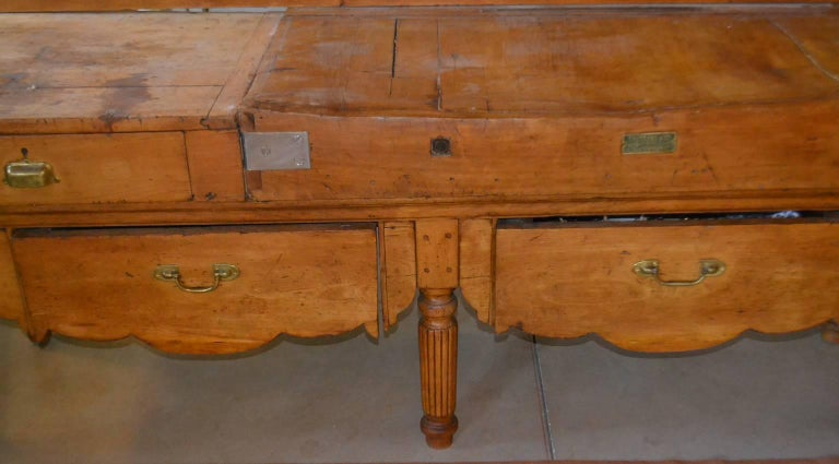 19th Century Long Butcher Table For Sale
