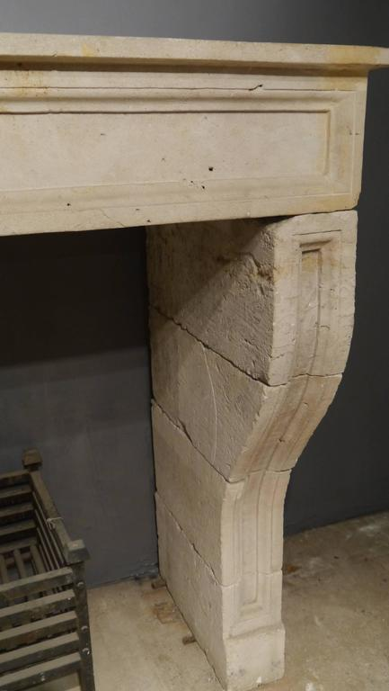 French 19th Century antique Large Stone Fireplace mantelpiece For Sale 2