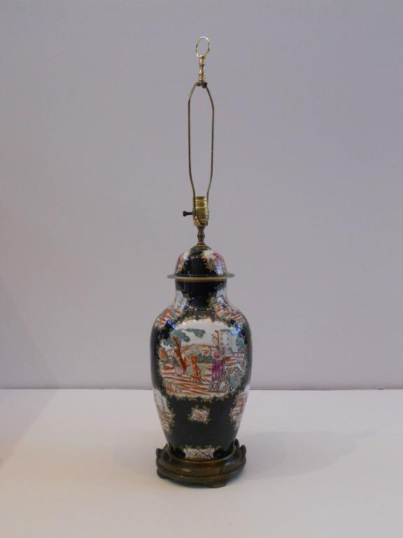 19th Century Chinese Export Vase as a Lamp In Excellent Condition For Sale In San Antonio, TX