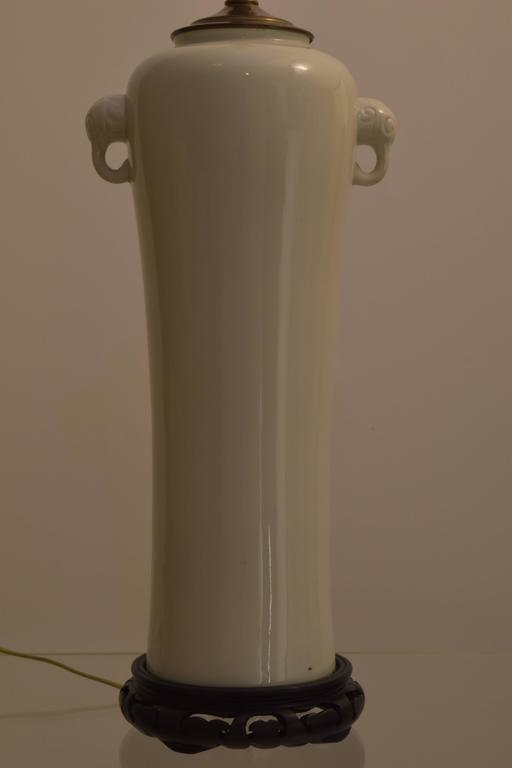 Blanc De Chine Chinese Porcelain Lamp With Handles At 1stdibs