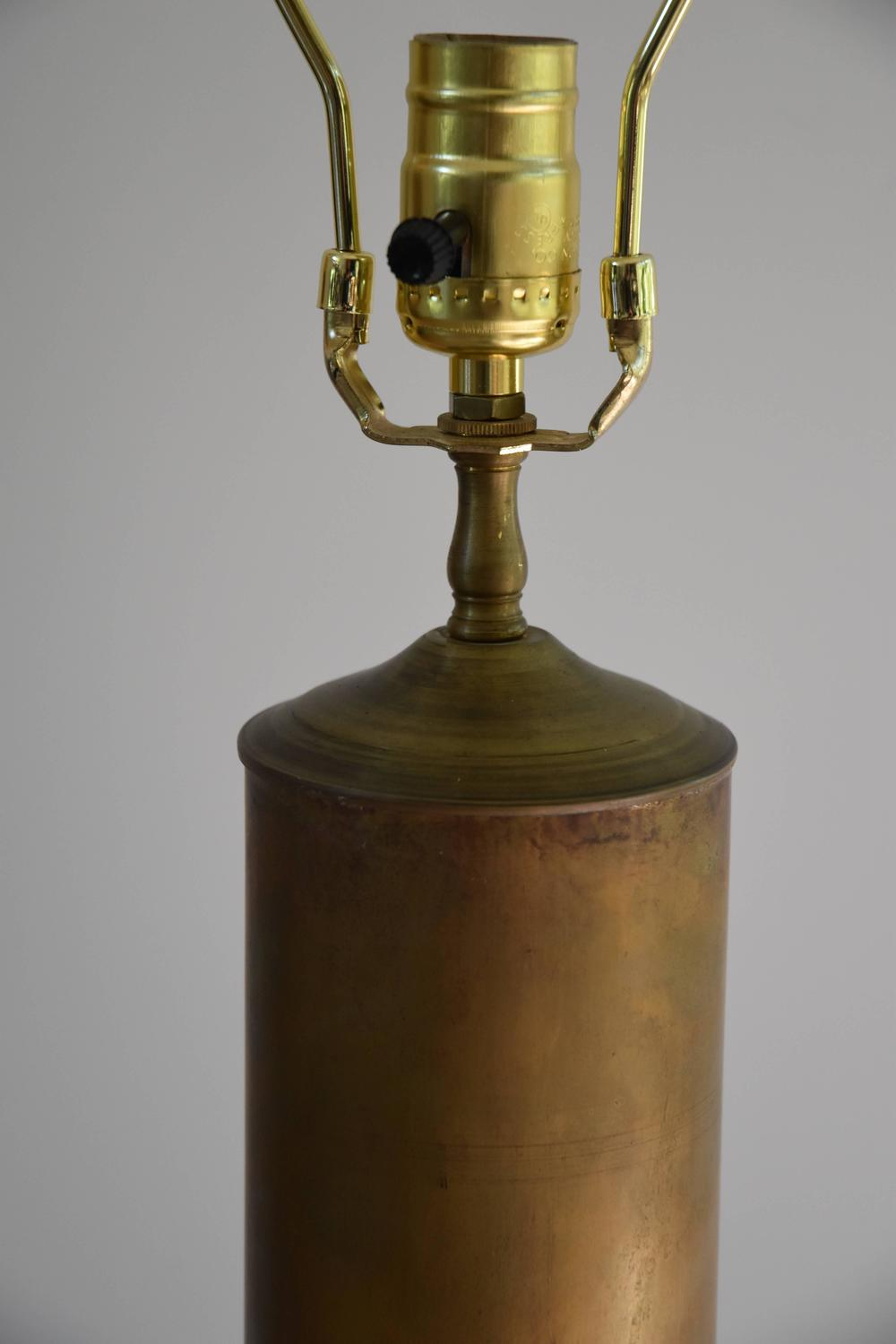 Vintage Brass Shell Casing As A Lamp At 1stdibs