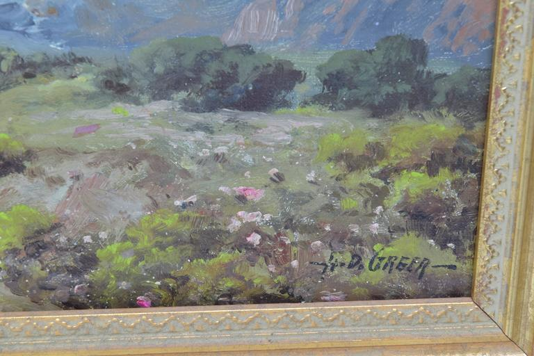 Tradtional Texas Landscape Oil Painting Signed Ad Greer