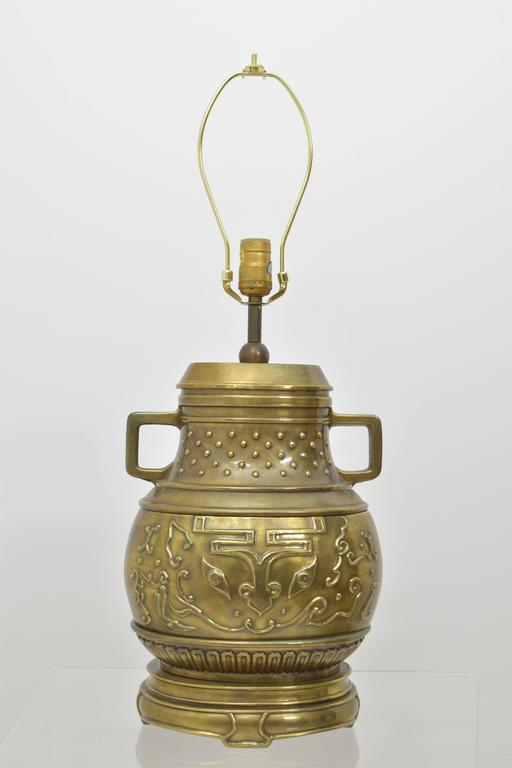 Asian Inspired Chapman Brass Lamp 1979 At 1stdibs