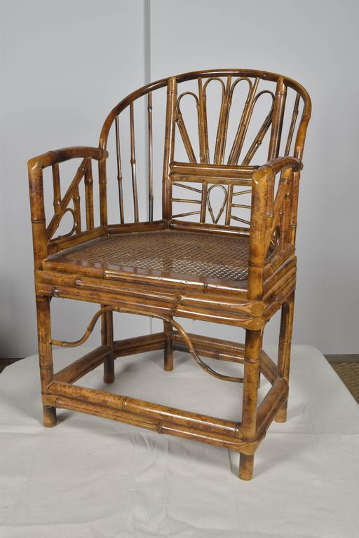 Pair Of Vintage Bamboo Chairs At 1stdibs