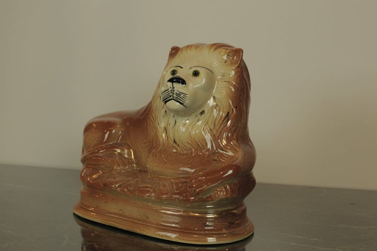 Staffordshire Lion In Good Condition For Sale In San Antonio, TX