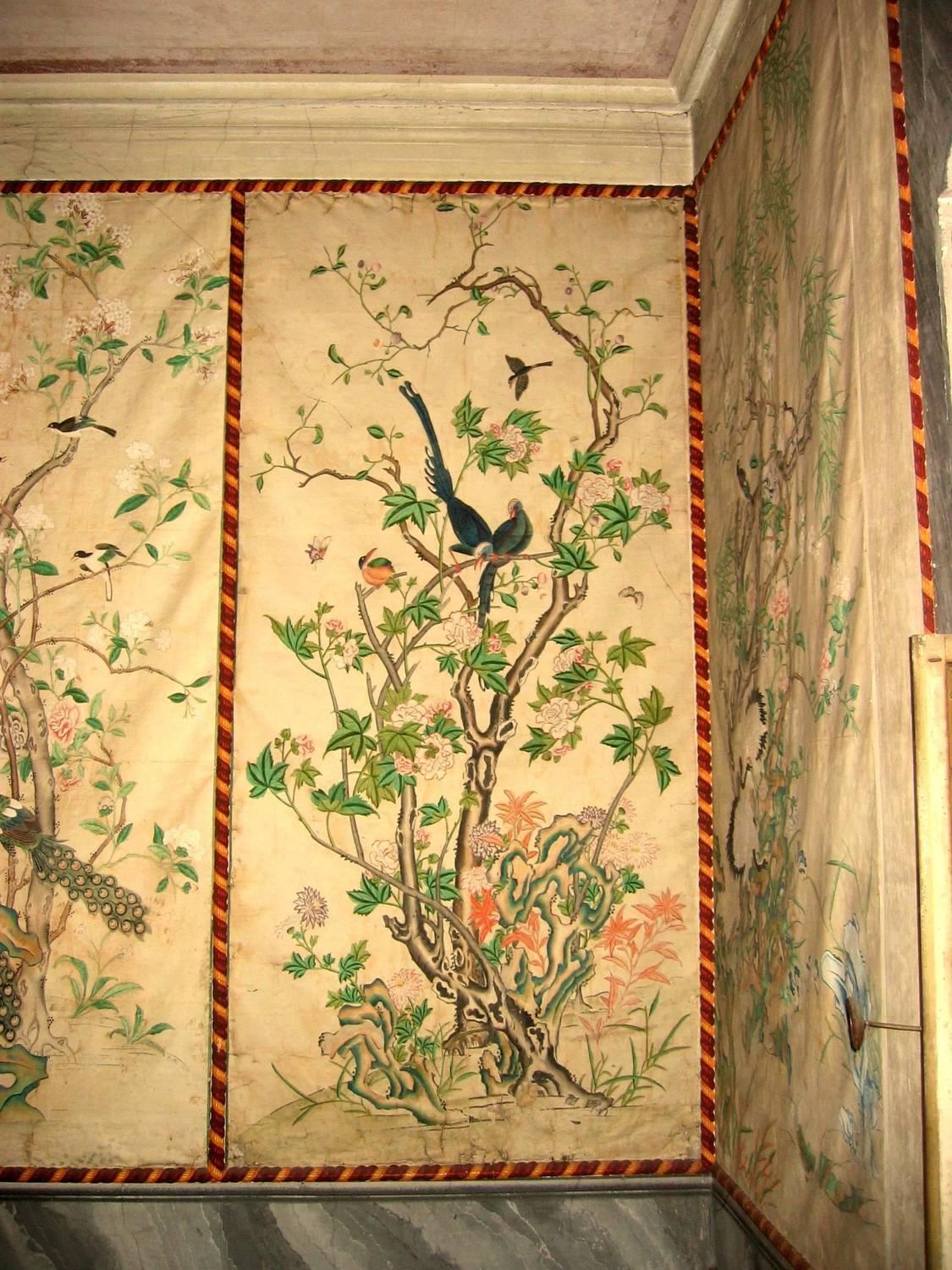 12 antique and rare chinese wallpapers panels for sale at for Wallpaper sheets for walls