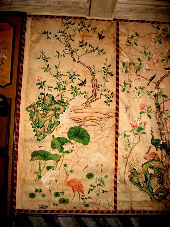 12 antique and rare chinese wallpapers panels for sale at
