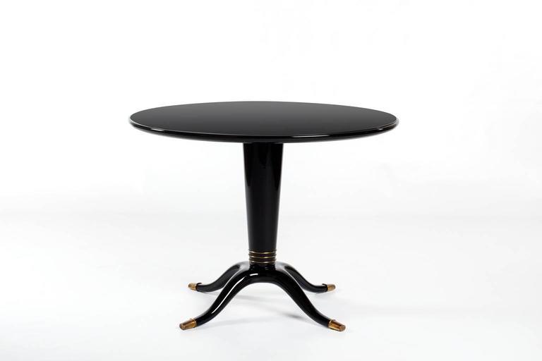 Italian U0027Black Octopusu0027 Pedestal Table, 1950s 2